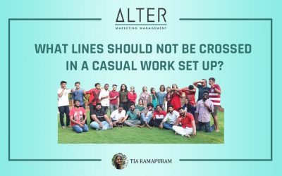 What lines should not be crossed in a casual work set up?