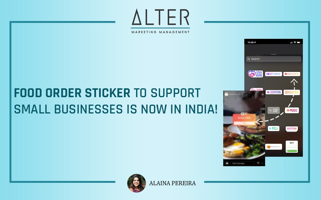 'Food Order' Sticker to support small businesses is now in India!